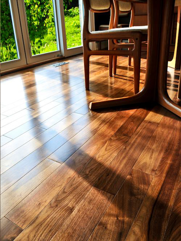 Luxury hardwood flooring