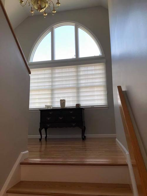 arched window banded shades