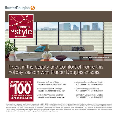 Hunter Douglas blinds sale